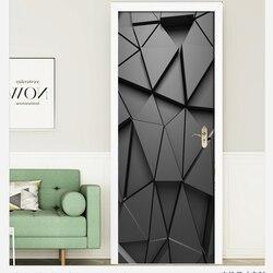 Na płótnie 3d druku kreatywny obraz geometryczny naklejki samoprzylepne do salonu dekor drzwiowy wodoodporna Mural remont naklejki|Naklejki na drzwi|Dom i ogród -