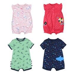 طفل الفتيات السروال القصير الصيف أزياء قصيرة الأكمام ملابس الطفل طفل Roupas الملابس الوليد الطفل ملابس الرضع بذلة الحيوان