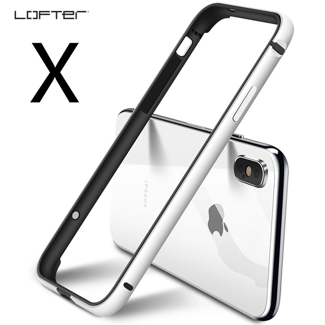 outlet store sale c2b1e e08f4 US $9.59 30% OFF|Lofter Aluminum Bumper for iPhone X Slim Metal Frame Full  Protection Cover Ultra Thin Phone Case Silicone Cover Capinha Coque-in ...