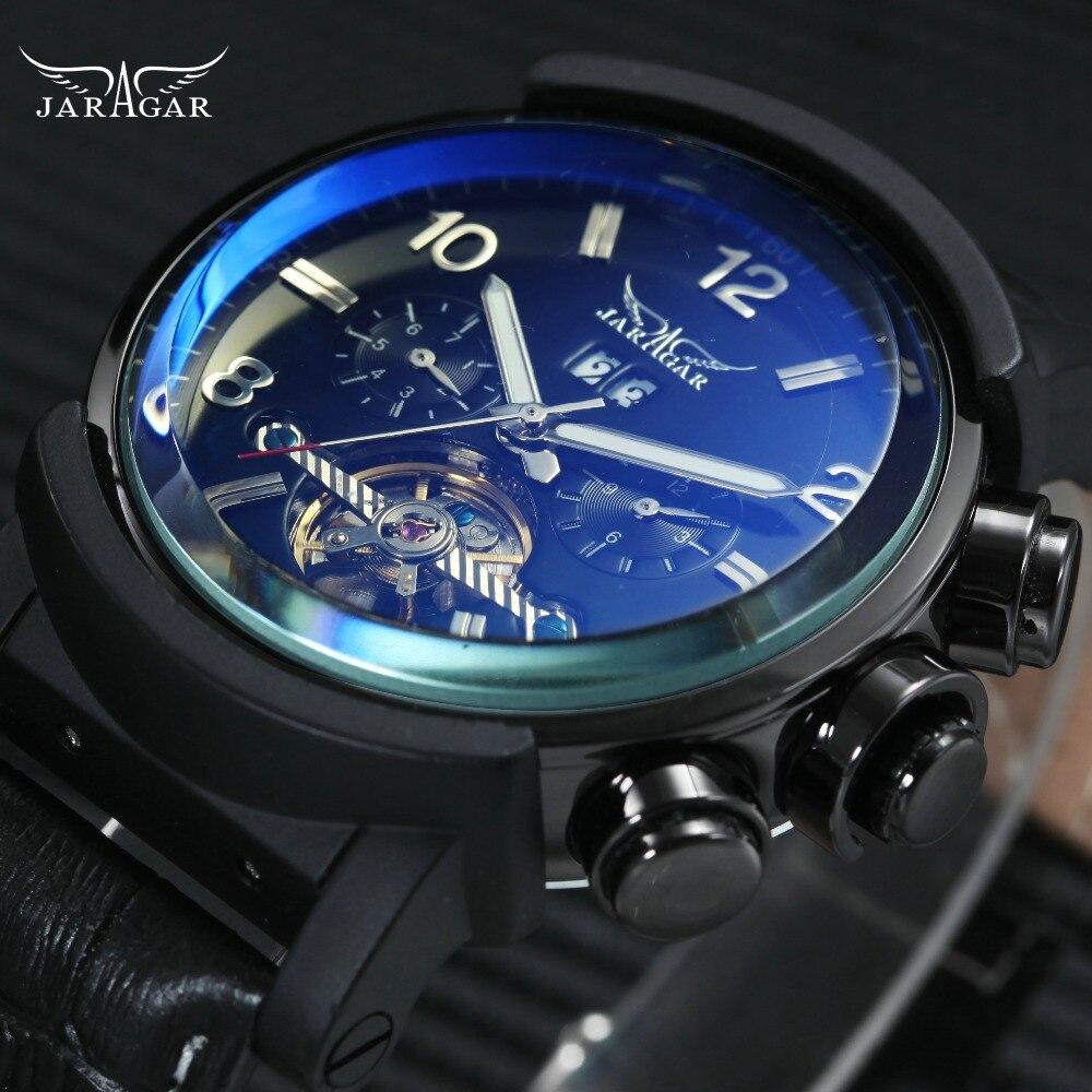 Mode sport hommes mécanique Tourbillon montres WINNER marque hommes automatique montres multi-fonction calendrier horloge 2018