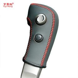 Fundas de engranajes yuji-hong para Nissan Tiida 2005-2009, collares de engranajes automáticos, funda de piel auténtica con estilo para coche cosida a mano