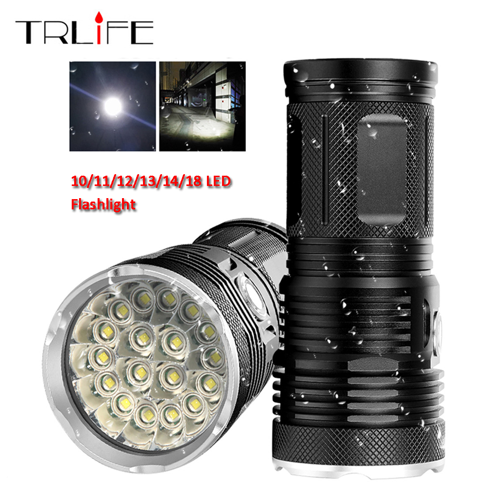 48000Lums Ultra Bright LED Flashlight Powerful Lamp 18650 Searchlight Torcia Torch Lanterna Camping Hunting Bike Light48000Lums Ultra Bright LED Flashlight Powerful Lamp 18650 Searchlight Torcia Torch Lanterna Camping Hunting Bike Light