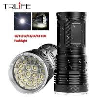 48000Lums Ultra Bright LED Flashlight Powerful Lamp 18650 Searchlight Torcia Torch Lanterna Camping Hunting Bike Light
