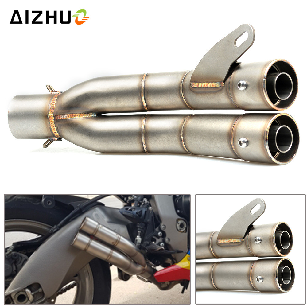 36mm-51mm Motorcycle Accessories Exhaust Muffler Pipe For KAWASAKI Z800 Z750 Z650 Z900 Z1000 ZX10R ZX12R 2004-2015 2005 2006 07 motorcycle inlet 51mm exhaust muffler pipe with 61 36mm connector for kawasaki w800 se z1000 z1000sx sx tourer z125 z250