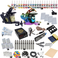 Complete Tattoo Kit Professional Beginner Machine Set Tattoo Gun Pigment Induction Tattoo Power Supply Set