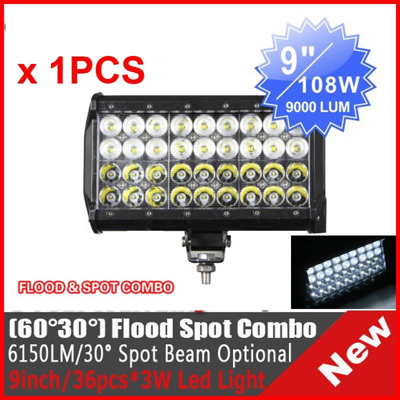 """2X 11.8/"""" 60W LED Work Driving Light Bar Spot Orange For 4x4WD UTE ATV Fog Lamp"""