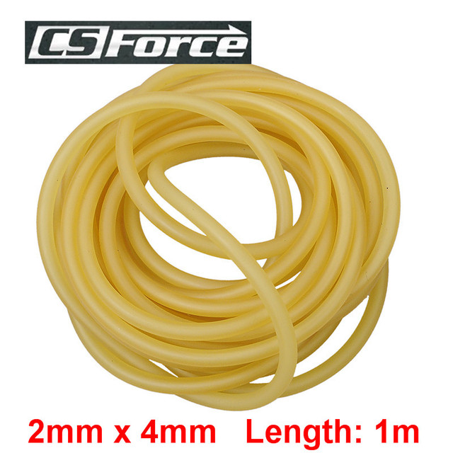 CS Force 2mm x 4mm Latex Slingshot for Hunting 1m Rubber Tube for Shooting Tubing Band Elastic Durable Latex Tubes Bands 2040