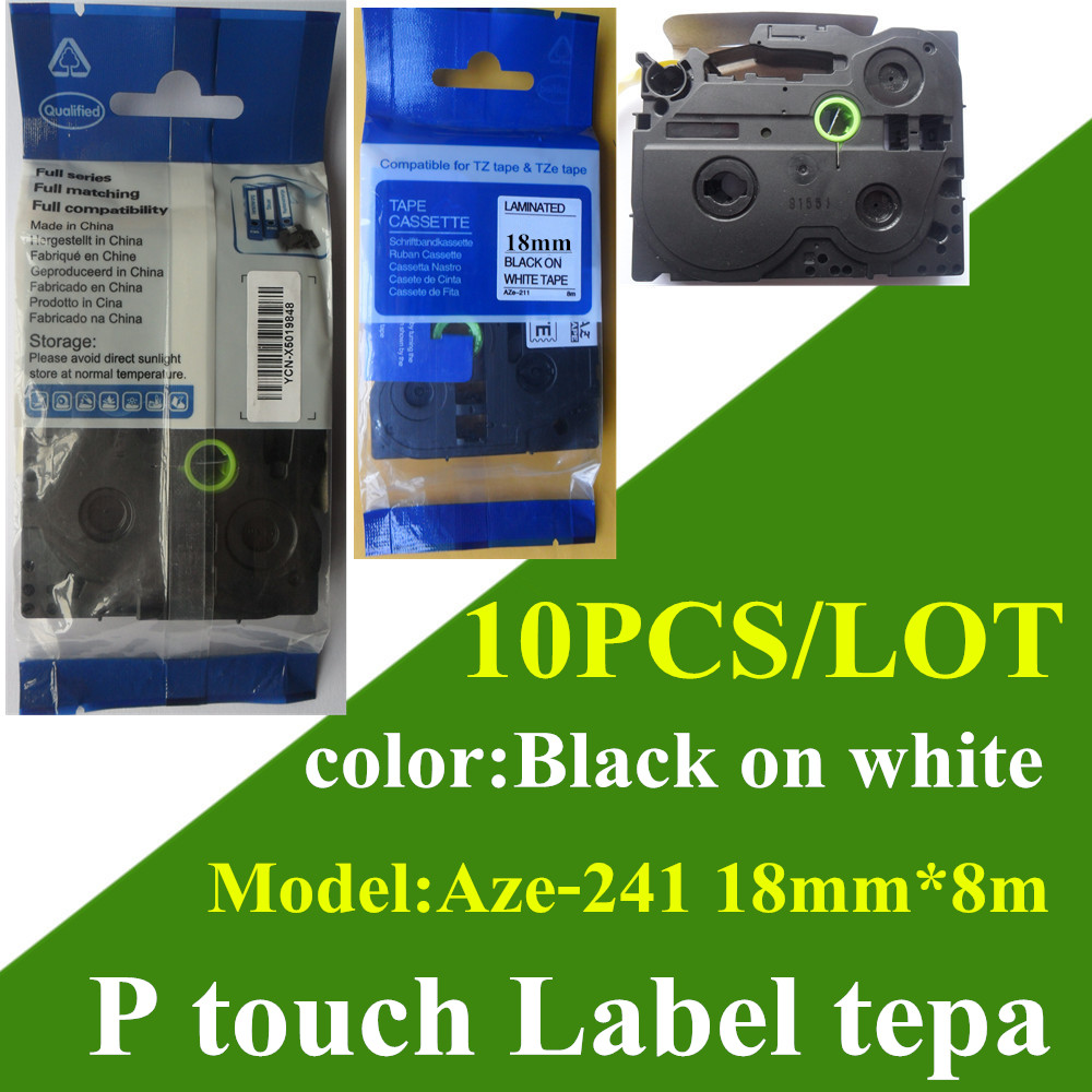 Color printing label maker - Handmade Label Maker Mixed Tze 231 Label Tape 18mm Black On White Compatible Paper Tags
