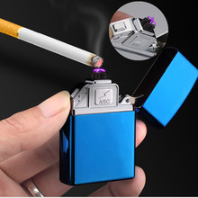 Hot Dual ARC USB Electronic Cigarette Lighter Flameless Plasma ARC Lighter Cigare Torch Lighter Encendedor gadgets for men