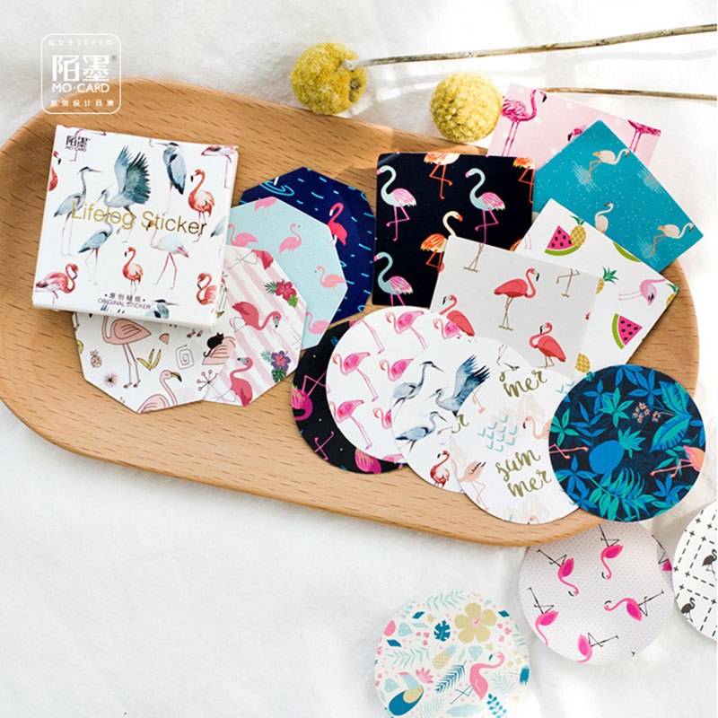 45 pcs/lot (1 bag) DIY Cute Kawaii Bird Paper Stickers Lovely Decorative Sticker For Home Decoration Free Shipping 3328 auto accessories chameleon sticker 30m 1 52m functional car pvc red copper color stickers home decorative films stickers