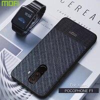 Poco F1 Cas Pour Xiaomi Pocophone F1 Cas Couverture Arrière Costume D'affaires Tissu Style Tissus Mofi Pour Xiaomi Poco F1 cas Pocophonef1
