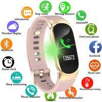 Смарт часы для фитнеса для женщин и мужчин, шагомер для здоровья, монитор сердечного ритма, сенсорный Bluetooth для бега браслет, спортивные часы