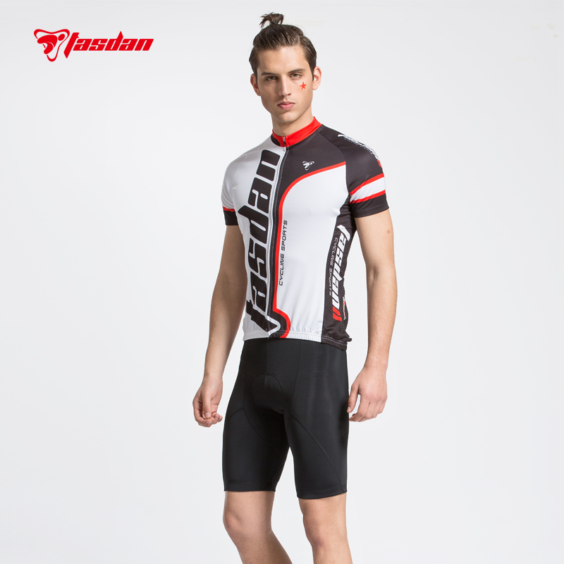 Tasdan Mens Cycling Jersey Sets Quick Dry Breathable Sport Wear Cycling Short Gel Pad Bicycle Cyclng Bib Shorts 2015 fdj cycling jersey quick dry cycling sets short sleeve jersey and 3d gel bib short with sleeve breathable bicycle wear