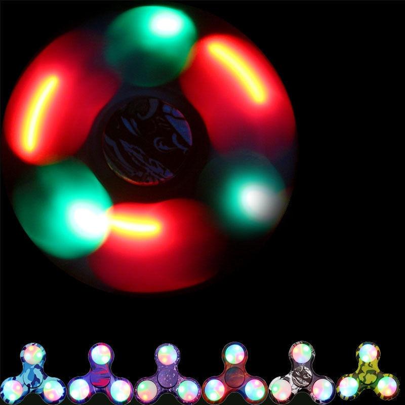 Top Spinner Toy Beautiful LED Fidget Spinner Hand Finger Focus EDC Fast Bearing Stress Fidget Spinner