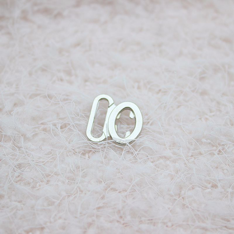 100 piezas Cierre de cinta gancho y cierre sujetadores de aleación de Zinc hebillas combinadas para Sujetador Bikini reemplazo Diy suministros de Material de costura