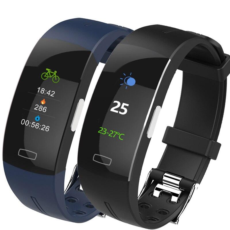 Hembeer H66plus tension artérielle poignet bande moniteur de fréquence cardiaque PPG ECG Bracelet intelligent Sport montre Fitness Tracker pk fitbits