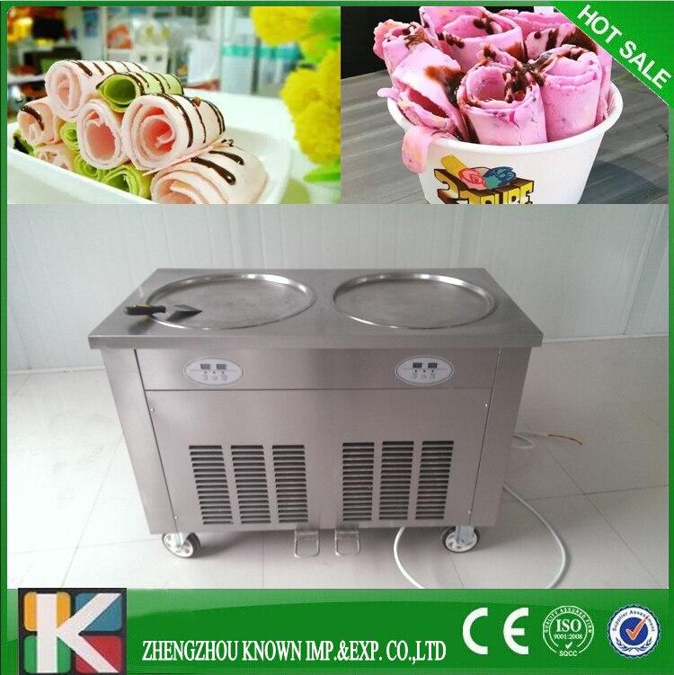 Commercial Thai Fried Ice Cream Machine/Ice Cream Roll Machine
