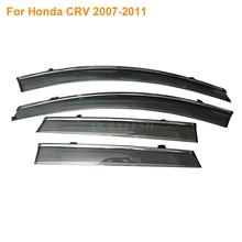 Тент Укрытие 4 шт./лот Окно Visor Для Honda Vezel HRV Fit Accord Civic CRV Odyssey Crosstour Солнце Дождь Щит Наклейки охватывает