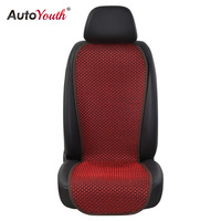 AUTOYOUTH 1PCS Car Seat Cushion Cover 4 Colored Ice Silk Breathable Car Cushion Seat Cover Universal