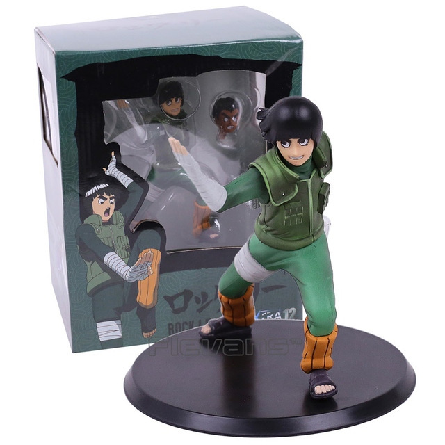 Naruto Shippuden Rock Lee PVC Figure Toy (Can Change Face)