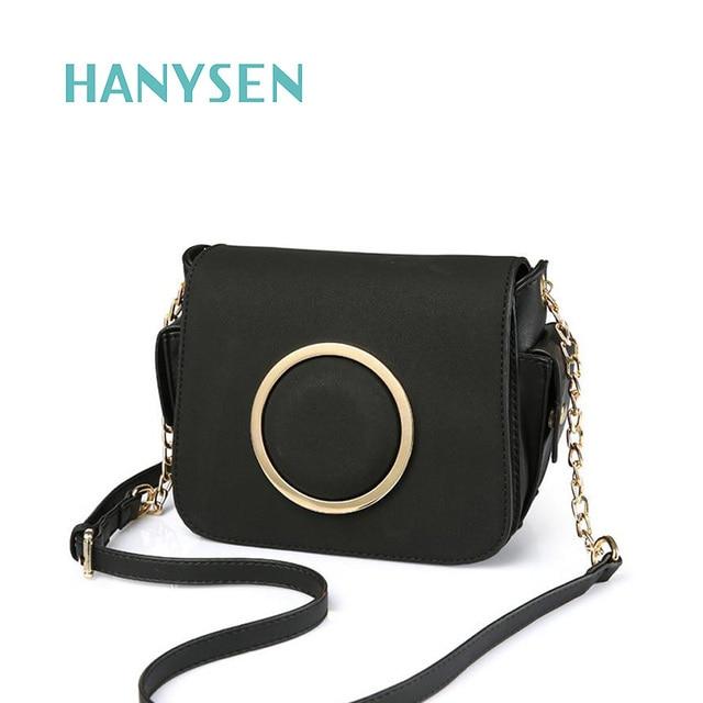 fb4bdfb8f86a New Korean Metal Ring Shoulder Women s Small Bag Leather Messenger Bag  Luxury Handbags Women Designer Handbags Mini Flap 2044