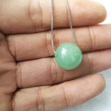 yu xin yuan natural dong ling jade 16mm round bead necklace pendant with free 925 silver c
