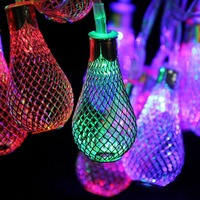 2 7m 3W 20 LEDs Metal Light Bulb Style StringLights Holiday Decoration Lamp Festival Christmas Wedding