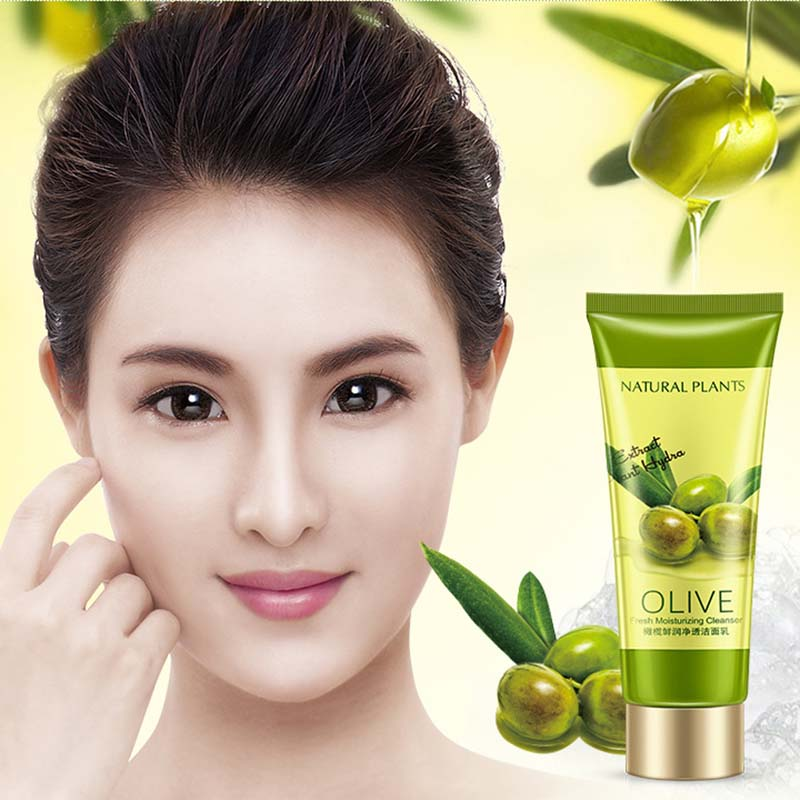 OneSpring Olive Facial Cleanser Rich Foaming Facial Cleansing Moisturizing Oil Control Face Skin Care Cleanser - 5