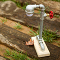 Industrial Country Retro Water Pipe Desk Lamp American Vintage Table Lamps LED Table Light Bulbs for sduty room