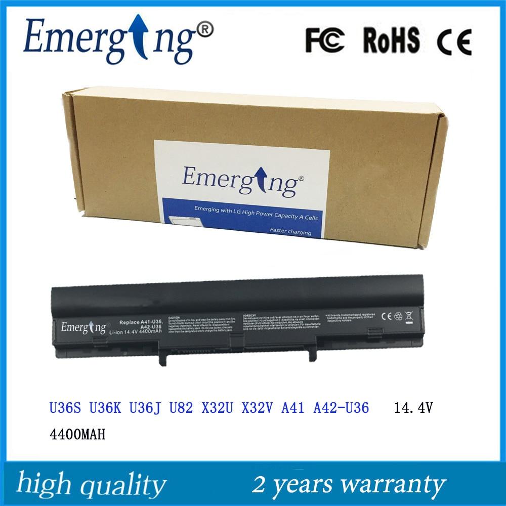 14.4v 4400mah Korea Cell New Laptop Battery for ASUSA41-U36 A42-U36 U32 U32U U36 U36J U36JC U36S U36SD U36SG U44 U44S U82 U84
