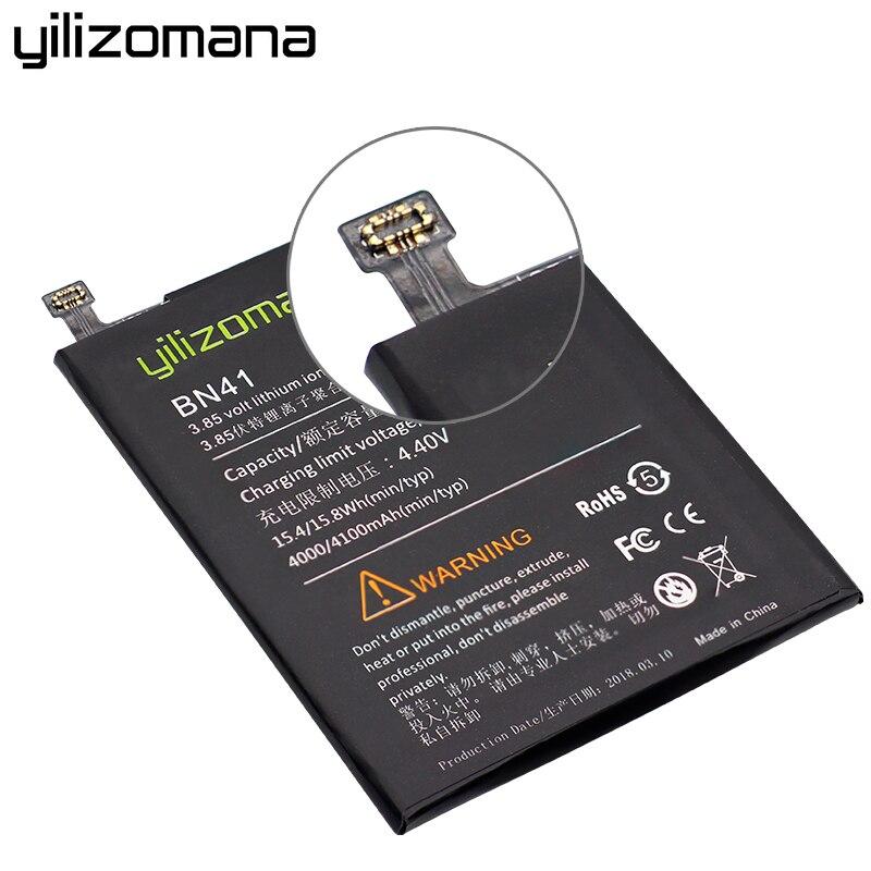 YILIZOMANA Replacement Phone Battery BN41 BN43 BM22 BM46 BM47 For Xiaomi Mi 5 Redmi 3 Pro 3S 3X Note 3 Pro 4 4X