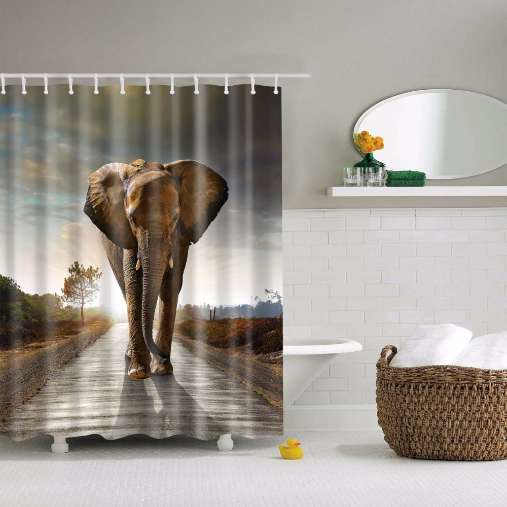 africa shower curtain promotion-shop for promotional africa shower