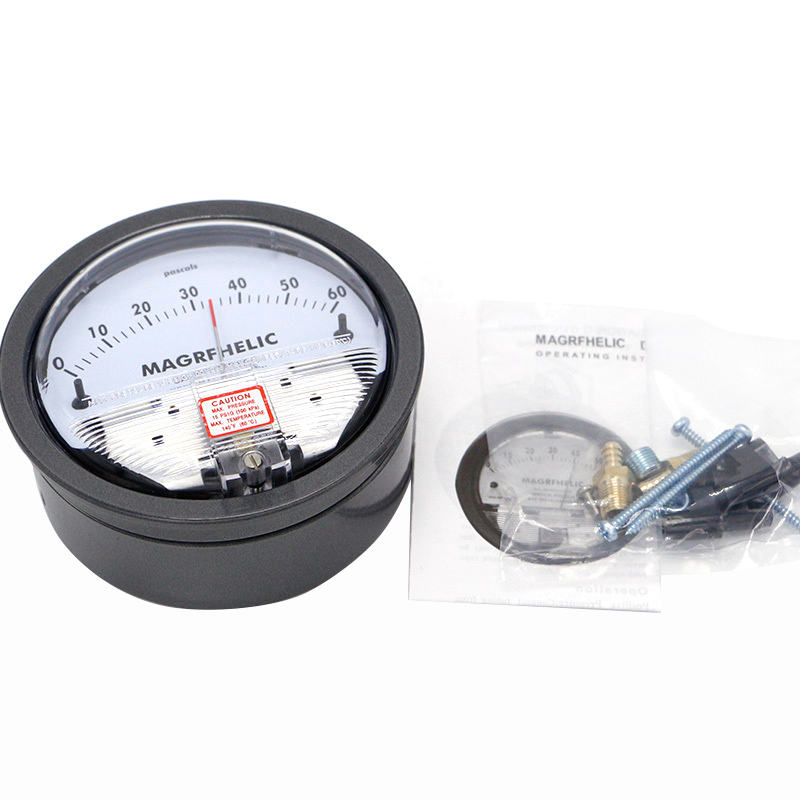TE2000 0-60PA Micro Differential Pressure meter Gauge High Neutral Panel Round Type Pointer Instrument Micromanometer цена