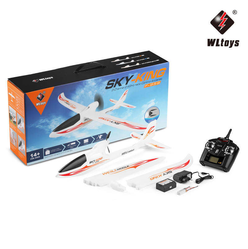 Wltoys F959 3CH 2.4GHZ RC Airplane Push-Speed Glider Fixed Wing Plane Super Power Remote Control Outdoor Game Toy For Kid Gift new rc plane fx823 fixed wing glider fighter remote control rc airplane epp material double motor kids child best gift toy model