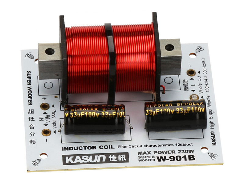 1pcs 1way 1Unit HiFi Super Bass Frenquency DividerCrossover for Woofer 4-8ohm 150HZ 300Hz Max power 230W made by kasun W-901B