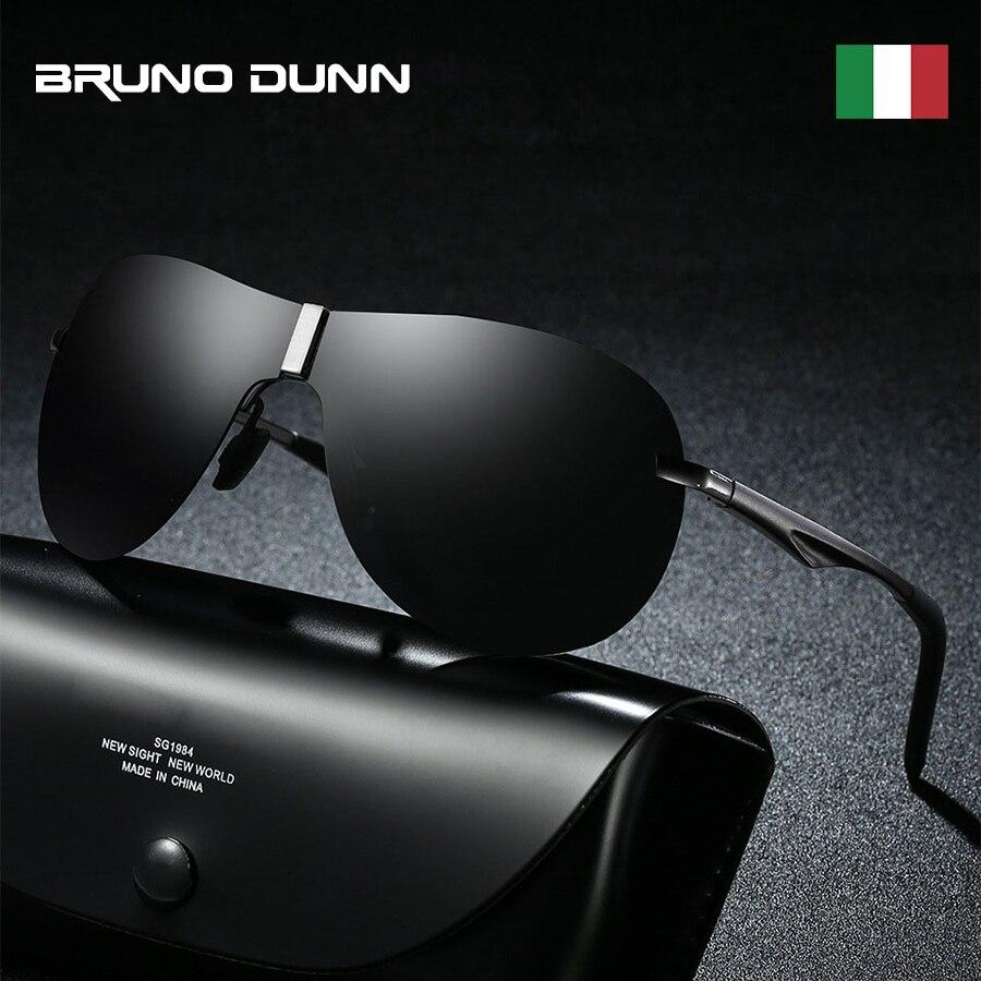 Bruno Dunn En Aluminium Rétro Hommes Lunettes De Soleil Polarisées de marque Aviation Soleil Glases pour Mâle zonnebril mannen lunette de soleil homme