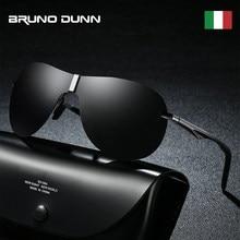Bruno dunn 2020 óculos de sol polarizados clássico piloto marca aviação óculos de sol masculino aviador para masculino uv400
