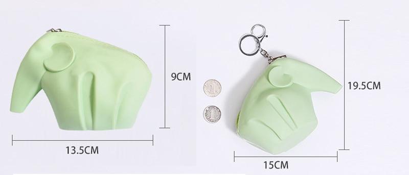 20 pçs lote Silicone Coin Bag Cor