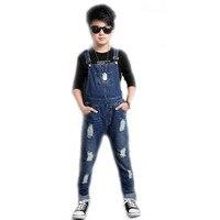 Boys Denim Trouser 2018 Denim Overalls Boys Jeans Fashion 2 10Y Baby Boys Jumpsuit Brand Pants Kids Clothes Children's Jeans