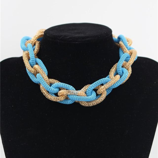 Elektrophorese Blau, Gold Farbe Fashion Net Seil Stricken Chunky ...