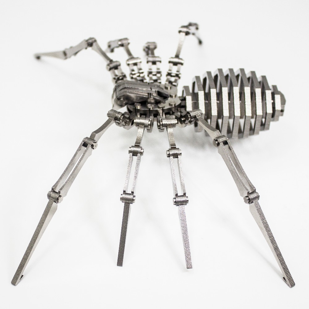 Spider 3D Steel Metal Joint Mobility Miniature Model Kits Puzzle Toys Children Educational Boy Splicing Hobby Building