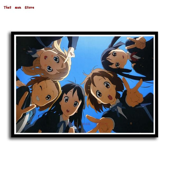 k on white cardboard wall sticker japanese anime hirasawa