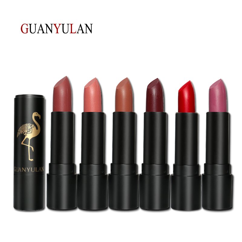 GUANYULAN Lipstick Makeup 6 Colors in 1 Matte Lipstick Set Long Lasting Easy to Wear Batom Kissproof Nude Lips Make up