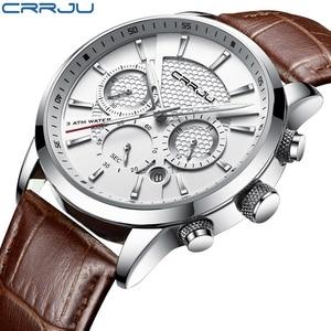 Image 1 - Crrju腕時計クラシック機能スポーツ防水クォーツ腕時計カレンダー時計ビジネス腕時計レロジオmasculino