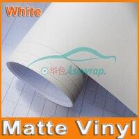 Free Shipping High Quality 30M A Lot White Matte Vinyl Wrap With Air Release Satin Matt