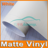 Free shipping high quality 30M a lot white Matte Vinyl Wrap with Air release Satin Matt Black Foil Vehicle Wrap Film car Sticker