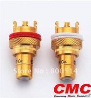 Un par USA CMC 805-2.5F RCA terminales RCA (uno blanco + uno rojo)
