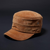 Svadilfari 2018 High Quality Genuine Leather Flat Peak Military Hats For Women Men S Caps Autumn
