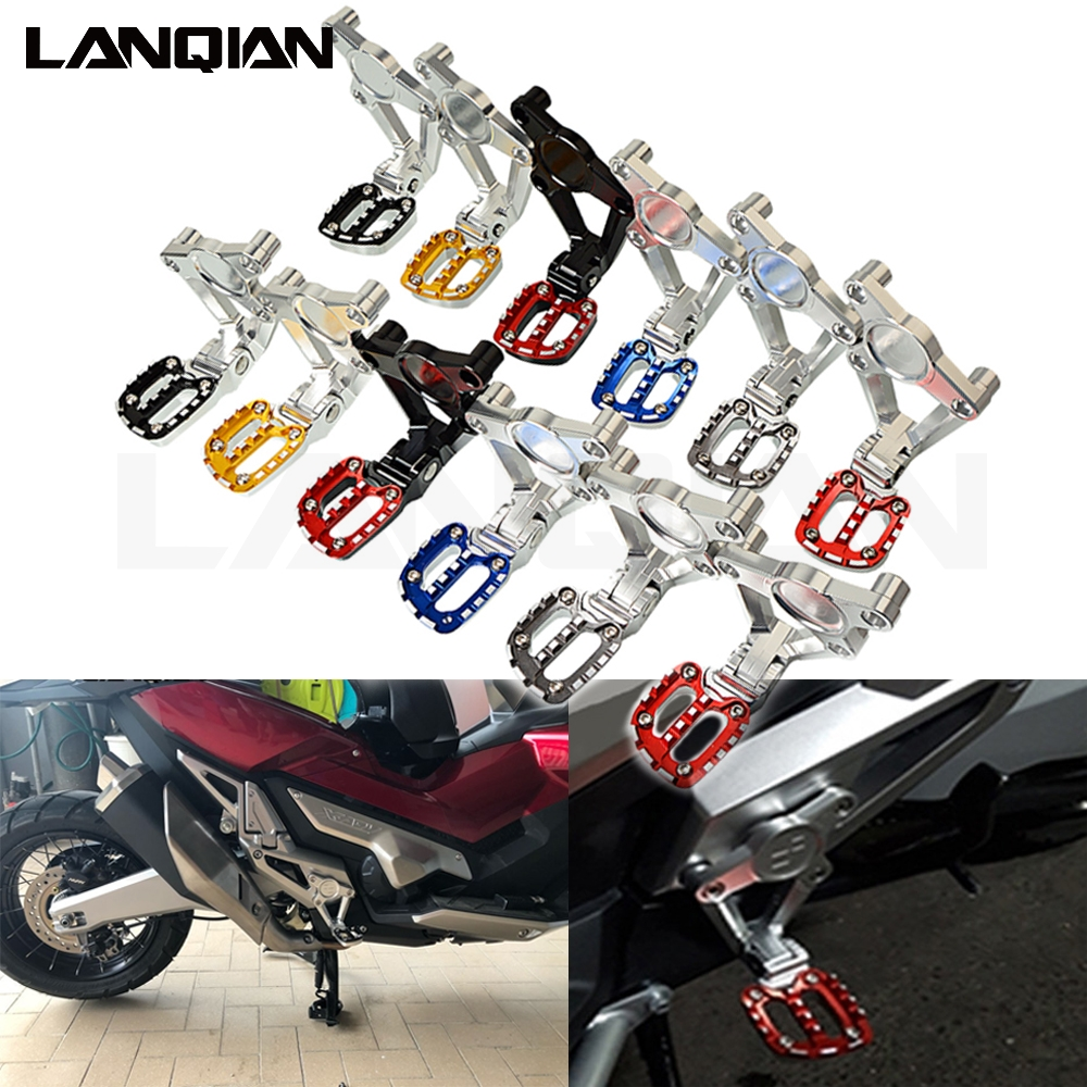 Rear Folding Black Passenger Bracket With Foot Pegs For 17 18 X-ADV 750 Models