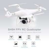 SH5H 2.4G FPV Drone RC Quadcopter with 1080P Wide Angle Wifi HD Camera Hold Headless Mode One Key Return Live Video quadrocopter